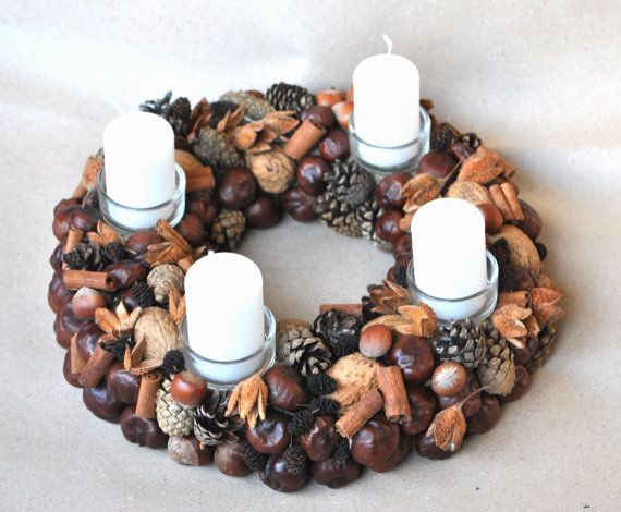 Advent Wreath Christmas Wreath  Holiday Wreath by NatureMagazine, $28.00