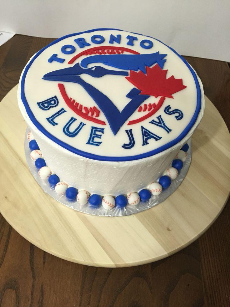 Toronto blue jays cake - chocolate fudge with chocolate cream filling
