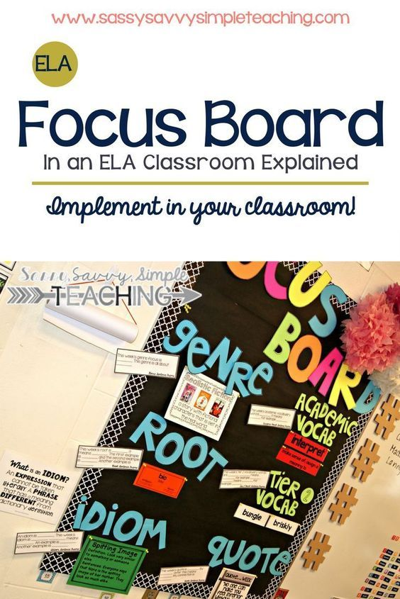 Implement an ELA Focus Board in your classroom! Tips, ideas, suggestions and more on the blog!