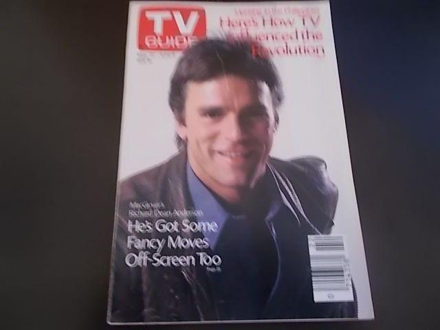 Richard Dean Anderson, Margaret Colin - TV Guide Magazine 1986