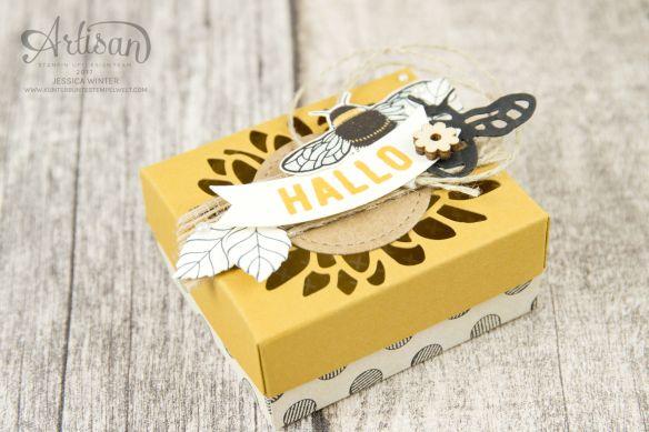 Stampin' Up - Li (e) bellems -THinlitsformen Libelle - Accessoires Love Greetings - Special Designer Paper Incomparable Urban - Packaging for Ferrero Küsschen - 2