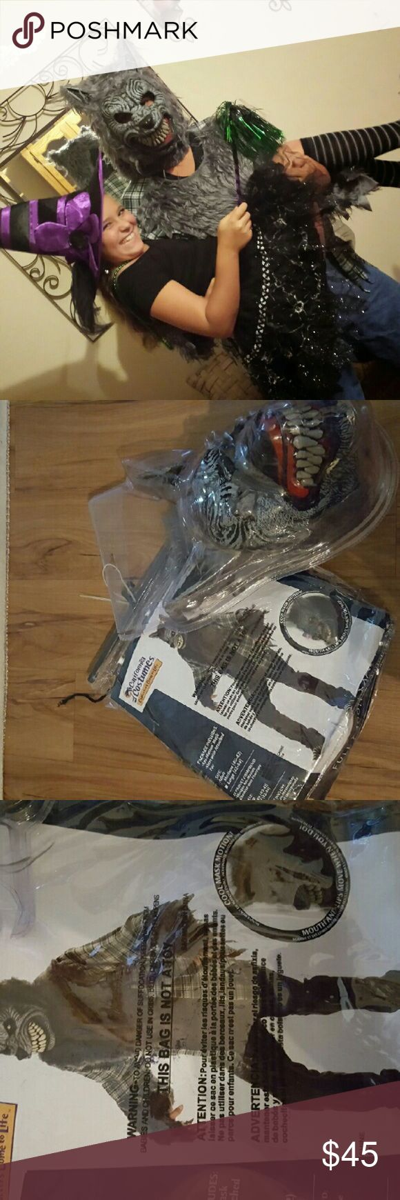 Werewolf Big Bad Wolf Costume Mint Condition worn once for a few hours it is the perfect costume got lots of compliments the mouth moves when you talk very realistic smoke-free home. High end costume. party city Costumes Halloween