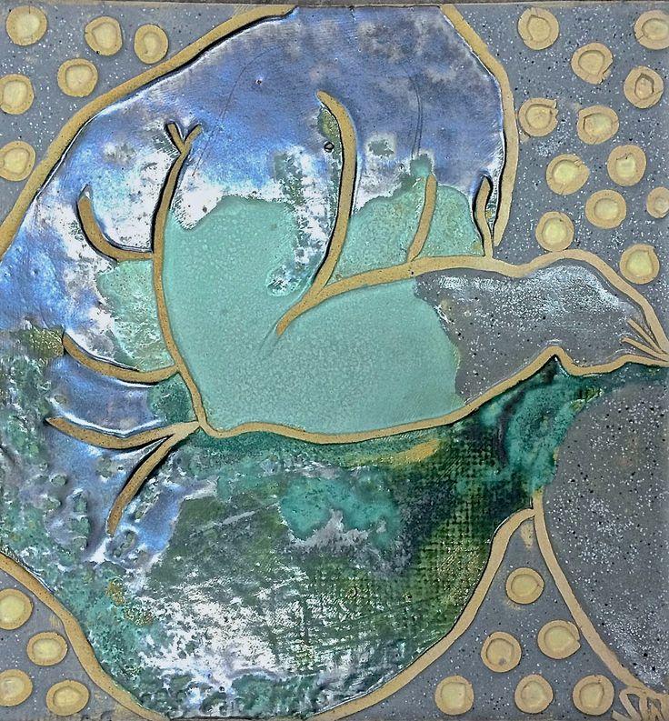 """mermaid "" ceramic relief by Weronika Surmawww.weronikasurma.com"