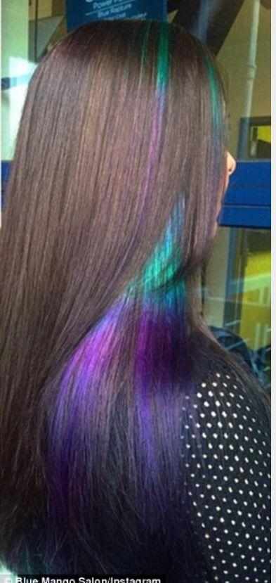 Gasoline Peekaboo Hair Color
