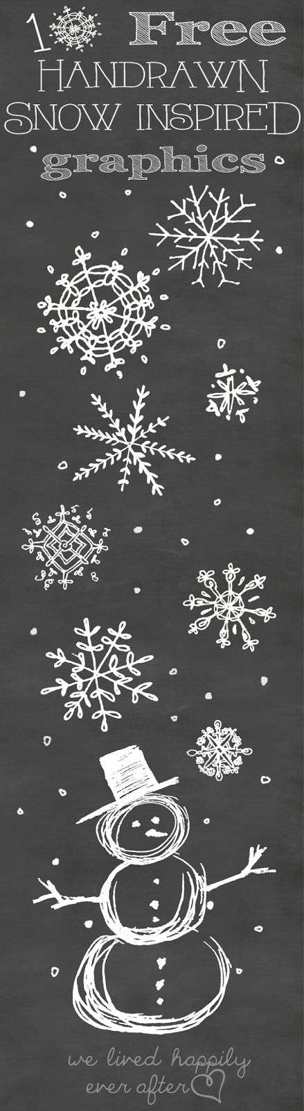 LOVE these free Snowflake Graphics- perfect to use in both photoshop and picmonkey!