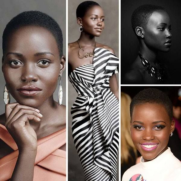 """Beautiful Lupita Nyong'o (born 1983) is a Mexican born actress and film director of Kenyan descent. She made her American film debut in Steve McQueen's 12 Years a Slave (2013), as Patsey. The film recently won best motion picture at the Golden Globe Awards."" @ Pretty Brown Girl via facebook.com"