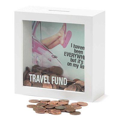 Un cuadro con profundidad y una foto en el fondo, que se va tapando a medida que se llena de dinero.