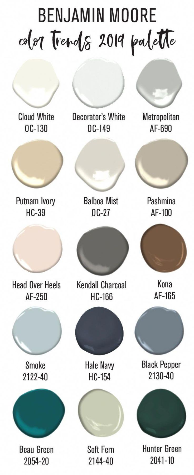 benjamin moore 2019 color palette construction2style on benjamin moore paints colors id=13255