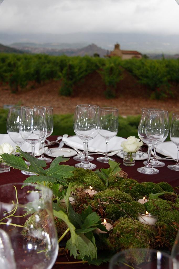 La fusión de la mesa y la viña.