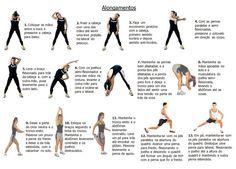 Alongamentos: exerc�cios para aumentar a flexibilidade muscular que possibilita ampliar e agilizar qualquer movimento corporal
