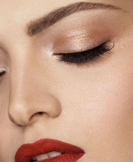 Make-up sucht braune Augen, rote Lippen 49 Trendige Ideen – Make-up ❁ – #