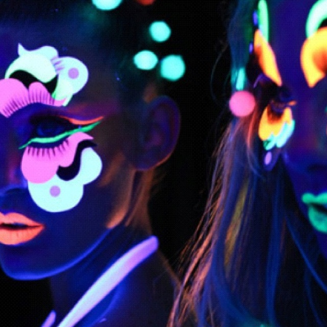 Neon Makeup. I Want A Black Light Party | Glow In The Dark | Pinterest | Black Lights Neon And ...