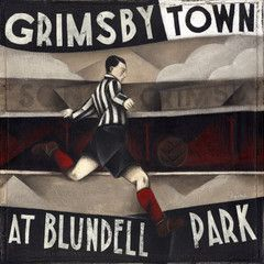 Grimsby Town FC - Grimsby Town At Blundell Park Ltd Edition Print by Paine Proffitt
