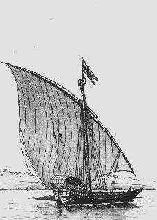"""Ce sont  les italiens qui, par tradition, servaient d'ingénieurs et d'artisans dans la construction des flottes lémaniques et ils ont introduit beaucoup de mots techniques et de """"tours-de-main"""". En plus, la proportion longueur-largeur de ces barques correspond à celle des galères de l'époque. Les constructeurs locaux (Saint Gingolph, Locum et Thonon) empruntent à la fin du XVII siècle des éléments à la galère : sa voilure, la structure de sa membrure, ses apoustis"""