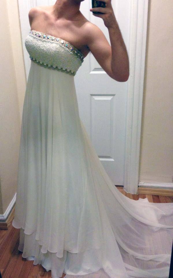 Beautiful custom-made gown based on Princess Serenity's dress.