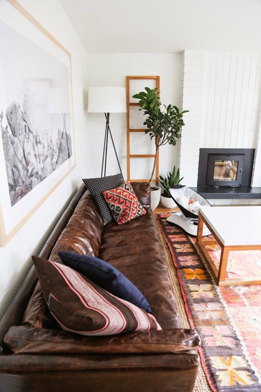 Cush and Nooks: Leather Sofa Love