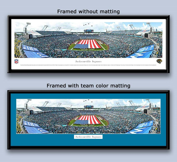 Jaguars EverBank Field with American Flag Framed Picture