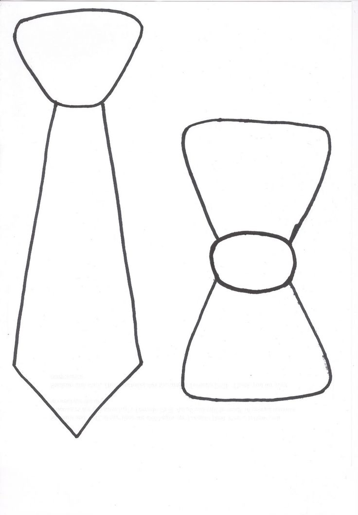 Tie & bow tie photo booth template for photo booth. Print out on colored cardstock paper for patterns.