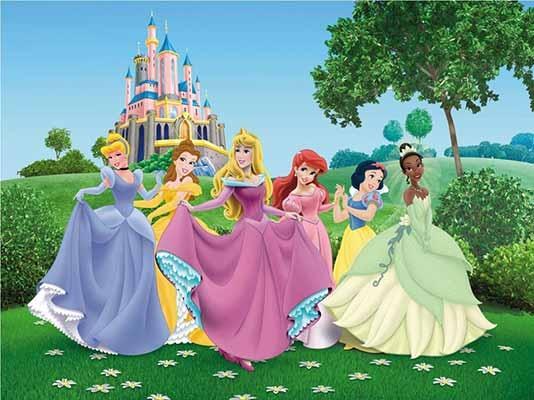 Fotomural infantil princesas de disney para toda una pared for Habitaciones infantiles disney