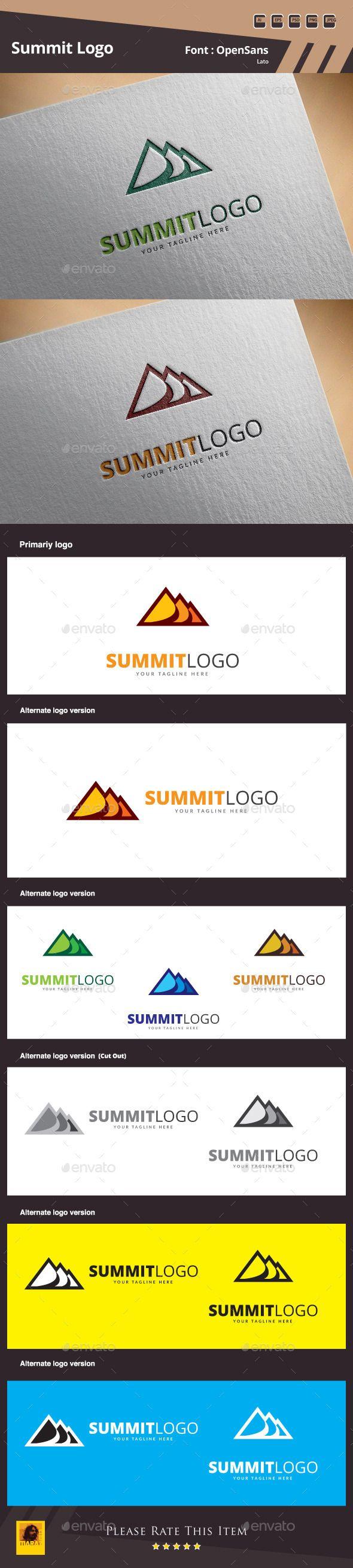 Summit Logo Design Template Vector #logotype Download it here:  http://graphicriver.net/item/summit-logo-template/10398165?s_rank=891?ref=nexion