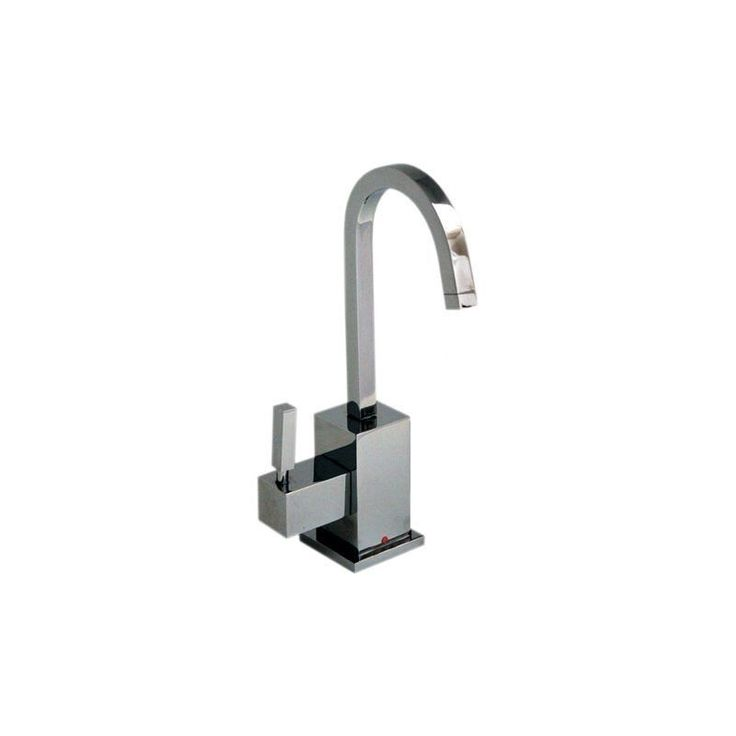 Whitehaus WHSQ-H003 Q-Haus Contemporary Square Instant Hot Water Dispenser with Polished Chrome Faucet Water Dispenser Single Handle