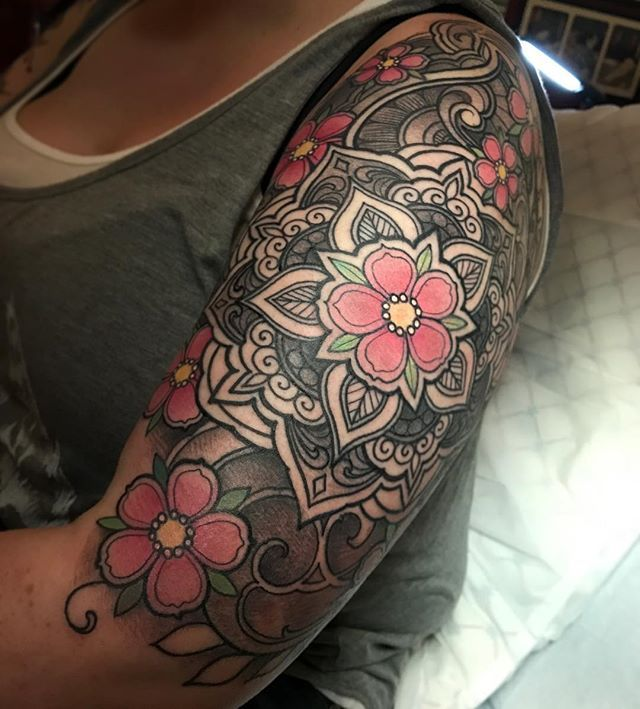 Tattoo By Laurajadetattoos Laura: 42 Best Cherry Blossom Tattoo Flower Outlines Images On