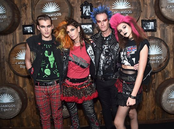 Presley Walker Gerber, Cindy Crawford, Casamigos co-founder Rande Gerber and Kaia Jordan Gerber 2016 Casamigos Tequila Halloween Party