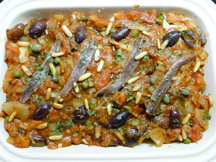 Bloemkool Puttanesca recept ~ lekker, makkelijk, koolhydraatarm ~ www.con-serveert.nl #lowcarb