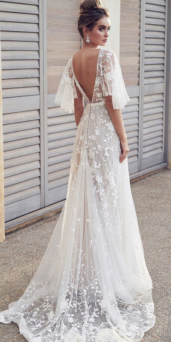 4c38556fa186 18 Rustic Lace Wedding Dresses For Different Tastes Of Brides | Boho  Wedding Dresses | Applique wedding dress, Wedding dresses, Wedding