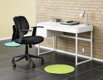 Skrivebord KLOVBORG højglans hvid | JYSK