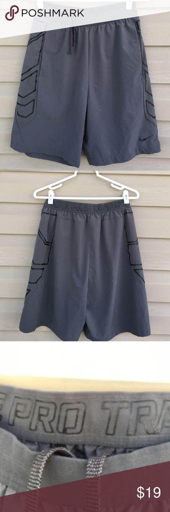 Nike men's shorts Very nice Nike pro training shorts like new 84% polyester 16% spandex with drawstring Nike Shorts Athletic