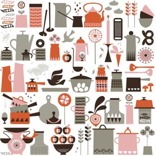 壁紙 クロス ウォールペーパー 北欧 デザイン ISAK Kaffe Wallpaper - Attic Japan   アティック ジャパン