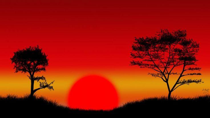 Beautiful Sunset Scenario