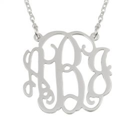 27 best silver monogram necklace images on pinterest initials fashionable silver monogram necklace silvernecklace monogram aloadofball Gallery