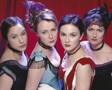 Florence (Jodhi May), Kitty (Keeley Hawes),  Nan (Rachael Stirling) and Diana (Anna Chancellor)  in BBC Production (c) Sally Head