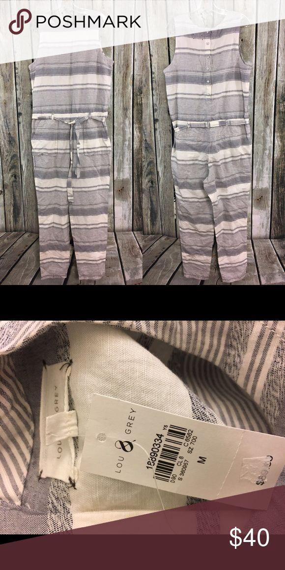 LOFT Lou & Grey Striped Jumpsuit One Piece NWT Size M, NWT. LOFT Pants Jumpsuits & Rompers
