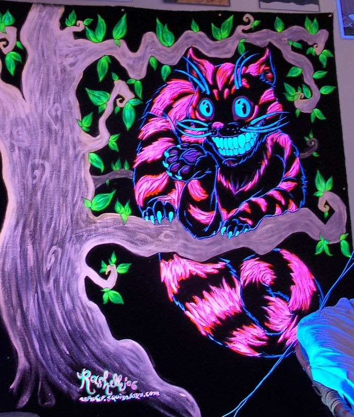 alice in wonderland chesire cat blacklight poster - You can find all your smoking accessories right here on Santa Monica #Blacklight #Teagardins #SmokeShop