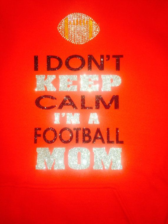 Keep calm football Mom tshirt by TripleMEmbroidery on Etsy, $22.00