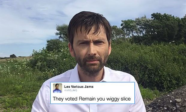 David Tennant reads angry tweets reacting to Donald Trump's Scotland gaffe