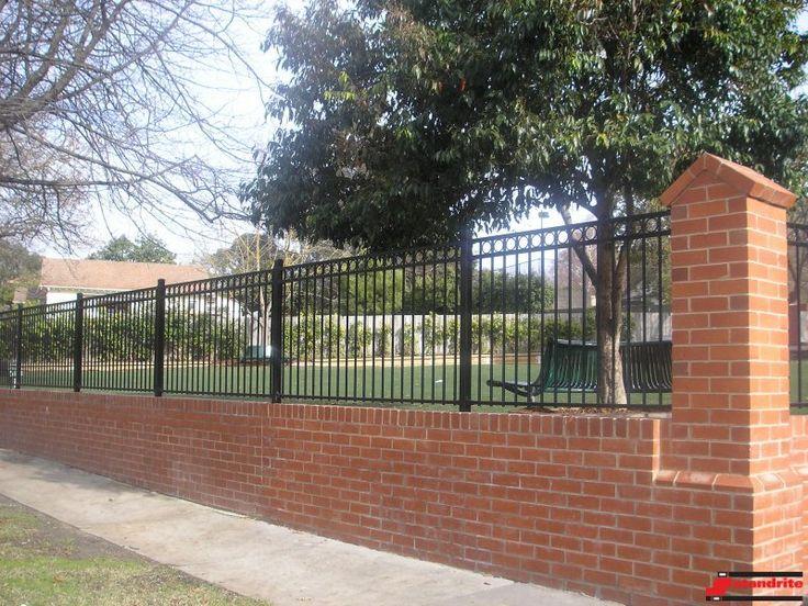Standrite - Tubular Steel Fencing - Mount Albert Style