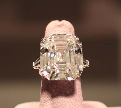 Formerly known as The Krupp Diamond, The Elizabeth Taylor Diamond is a rare D color (Type IIa) VS1 clarity diamond weighing 33.19 carats. The stone was a gift from Richard Burton, who purchased it in 1968 for $3,000.000. Christie's selling estimate is $300 000 000, but it is anticipated the diamond will sell for much more.