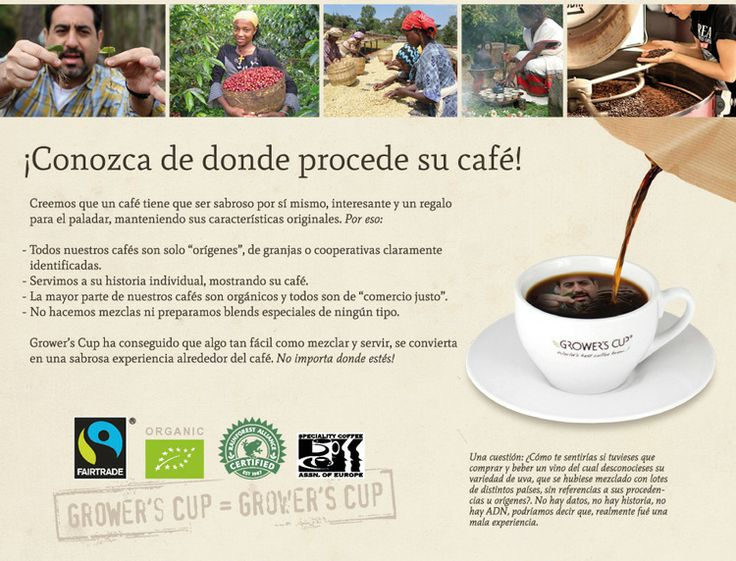 #Growers #coffee Spain. Fair trade & organic coffee. Café de #ComercioJusto.