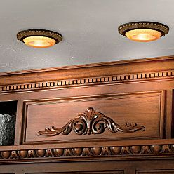 I want these for my kitchen. It is a decorative recessed light cover, you do it yourself.