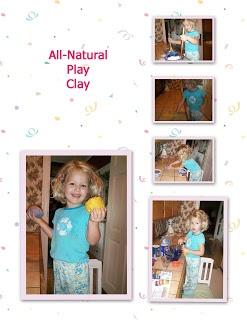 Make All Natural Play Clay, no food coloring, use food items from your kitchen