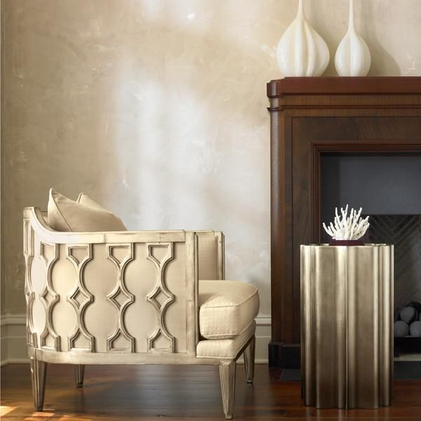 "Living Room:  Caracole ""gold is up"""