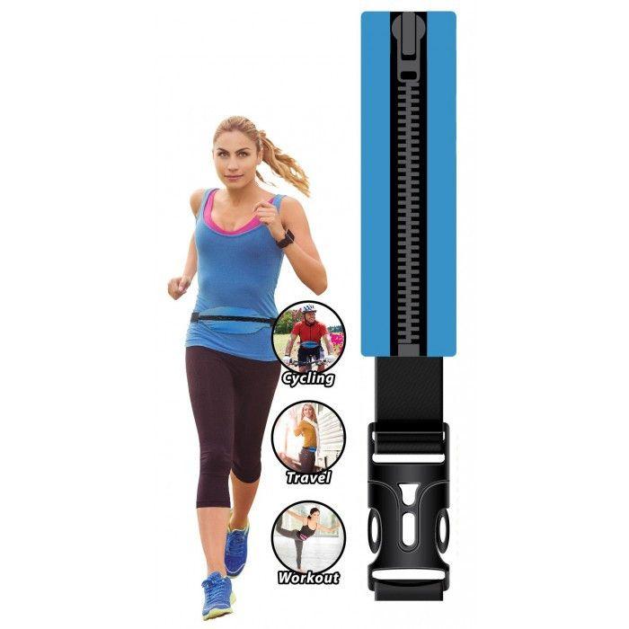LiveZippy 12010471 Running And Workout Belt - Blue