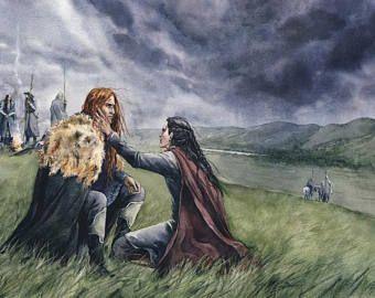 Maedhros and Maglor after Nirnaeth Arnoediad - digital hi res jpg