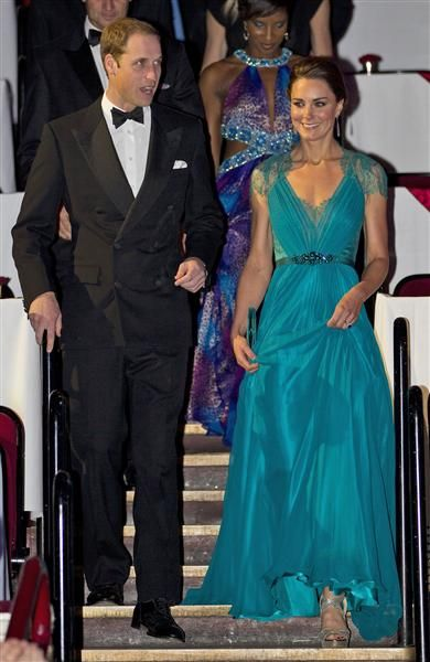 Prince William and Duchess Kate attend a British Olympic Team GB gala event in London on May 11, 2012.