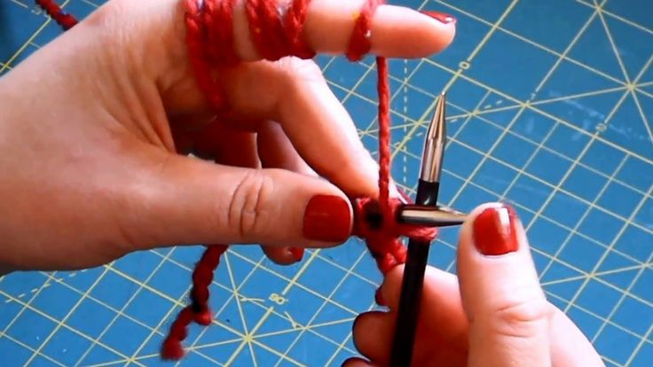 Learn to knit: cast on, purl, knit