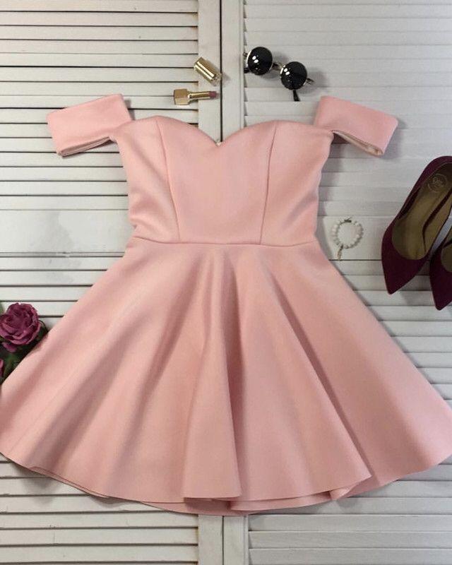 3bd95b36735 Short Satin Off Shoulder Ruffle Homecoming Dresses in 2019